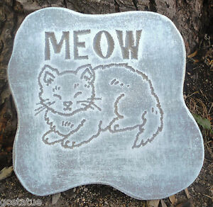 Dog plaque mold ornament decorative stepping stone mold