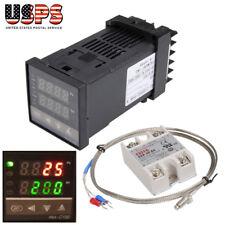 Digital Rex C100 Pid Temperature Control 40a Ssr 1m K Thermocouple Probe