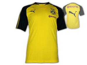 reputable site ddd70 4f73b Details zu Puma Borussia Dortmund Training Jersey gelb BVB Fan Shirt  Dortmund Trikot S-XXL