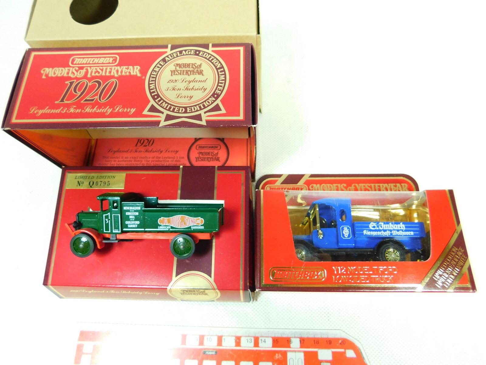 BT435-0, BT435-0, BT435-0, 5 x Matchbox Model  Y-12 Ford T Imbach + Leyland Luff, Nip c139ea