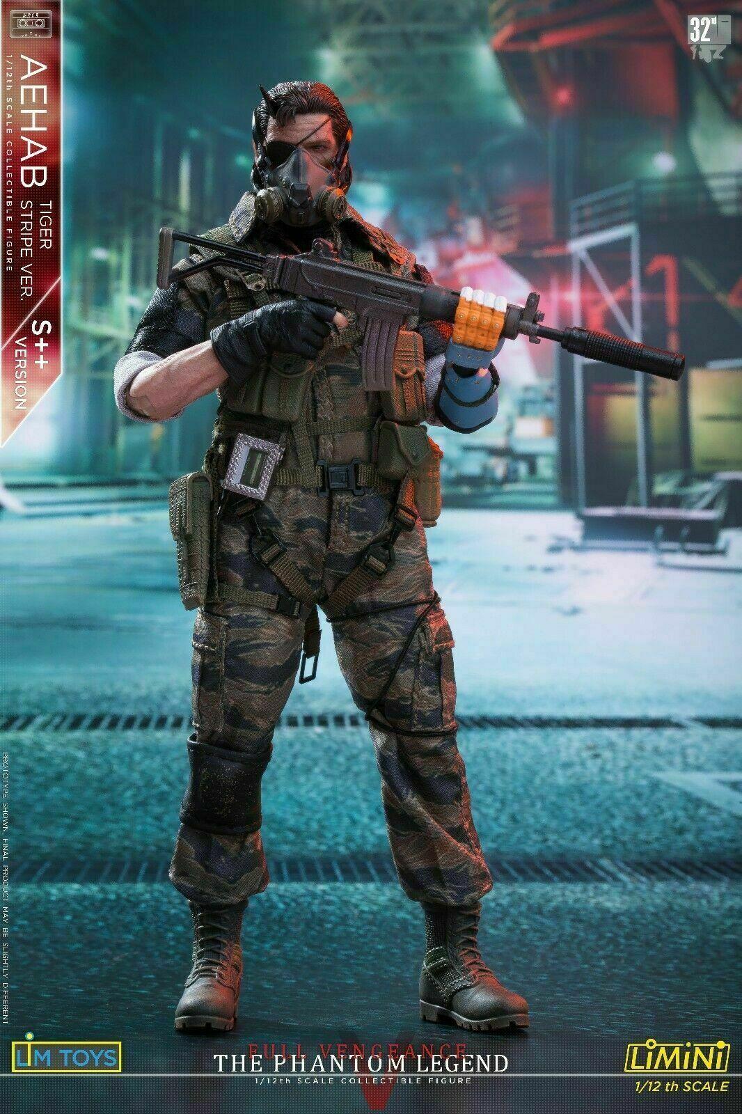 LIMTOYS LIMINI aehab 1 12 escala 6  Solid Snake Ismael S + + Ver Figura De Cuerpo Masculino