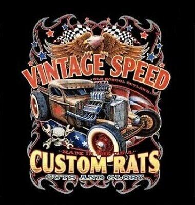 Dickies Mechanic Work Shirt Ratty Rods Speed Shop Hot Rat Rod Car Auto Racing