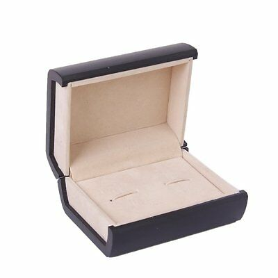 Deluxe Cufflink Cuff Links Storage Gift Box Jewelry Display Case T1