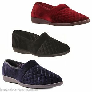 GROSBY-MARCY-SLIPPERS-Black-Navy-Wine-Red-Moccasins-Shoes-Slip-on-Sizes-5-11