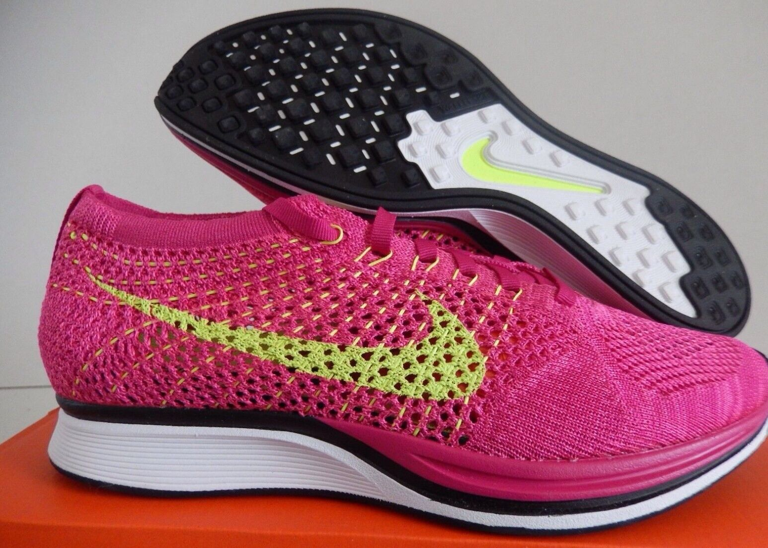 Nike uomini flyknit racer, 11 allenatore di fireberry-volt-pink flash sz 11 racer, [526628-607] acc05b