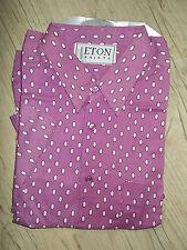 Herrenhemd Oberhemd Eton Gr. L 41 42 Männer Kurzarm Shirt Original Hemd NEU