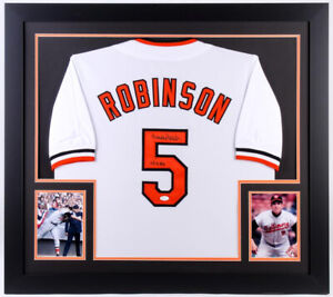 68ba607f8 Image is loading Brooks-Robinson-Signed-Baltimore-Orioles-31x35-Framed- Jersey-