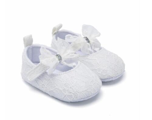 Infant Princess Dress Shoes Newborn Baby Girl Pram Shoes Child Laces Party Shoes