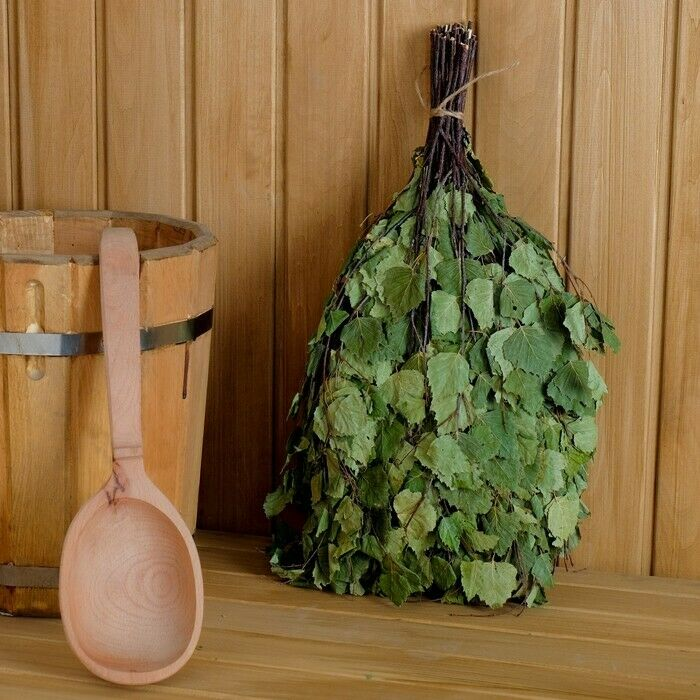 10x Birch leaf sauna whisk bath made in Russia dried natural branches leaves