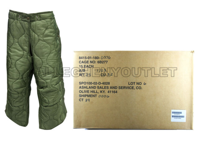 US Military M65 Field Trouser Pant Liner Field Pants For Cold Weather  MEDIUM NWT 74a5393929b