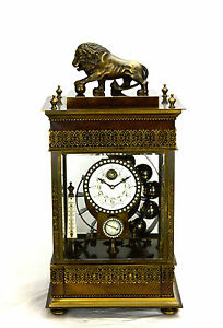 Larger-French-Style-Ferris-Wheel-Falling-Ball-Brass-Industrial-Regulator-Clock