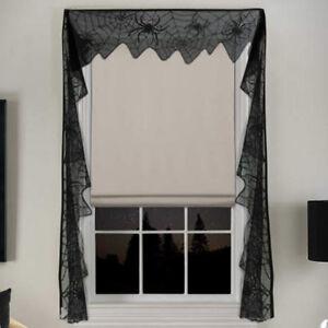 11x240-039-039-Gothic-Black-Lace-Bat-Curtain-Valance-Halloween-Haunted-House-Spiderweb