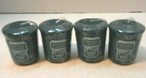 Yankee-Candle-Icy-Blue-Spruce-size-scented-lot-4-new-wax-green