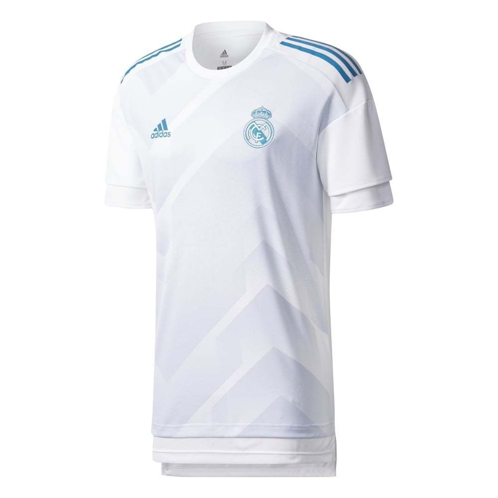 Adidas Real Madrid Home Mens Pre-Match Jersey 2017 2018