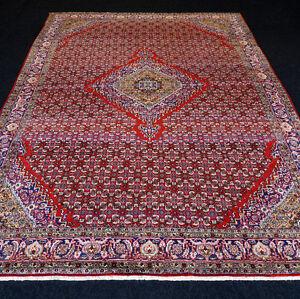 Orient Teppich Rot 311 X 222 Cm Alter Perserteppich Herati Muster
