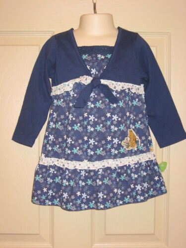 Disney Classic Pooh Knit Dress Blue 24 Months NWT 2 available-great for twins