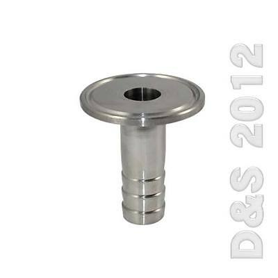 """3/4"""" 19MM Sanitary Hose Barb Pipe Fitting SS316 Tri Clamp Type 50.5MM Ferrule"""