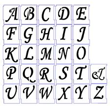 Wall Stencil Reusable Alphabet Stencils Letters Numbers Lettering No13