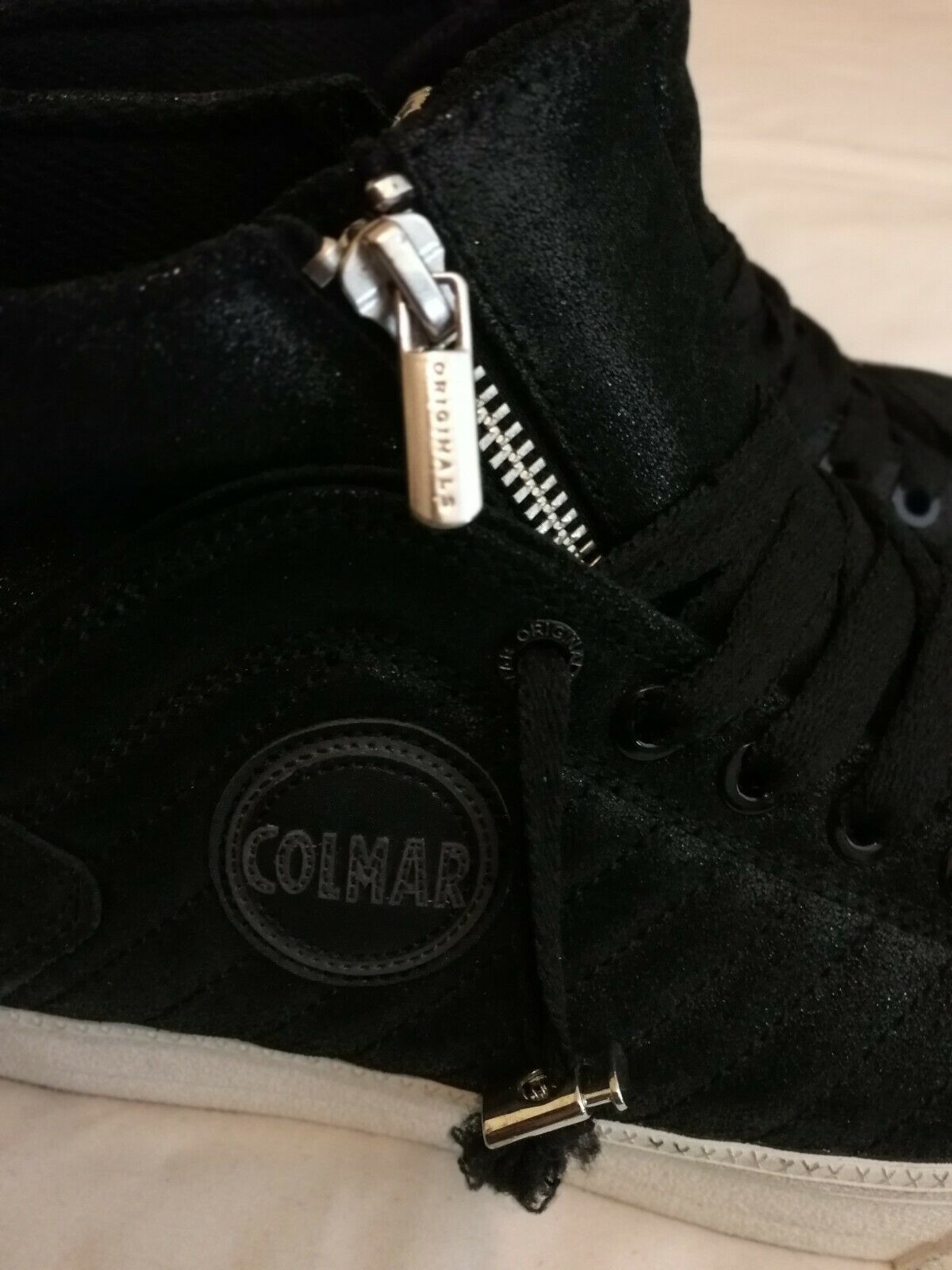 Colmar Durden Womens Leather Hi Hi Hi Top Sneakers Black Size uk 5.5eu 38.5 0e4d7d