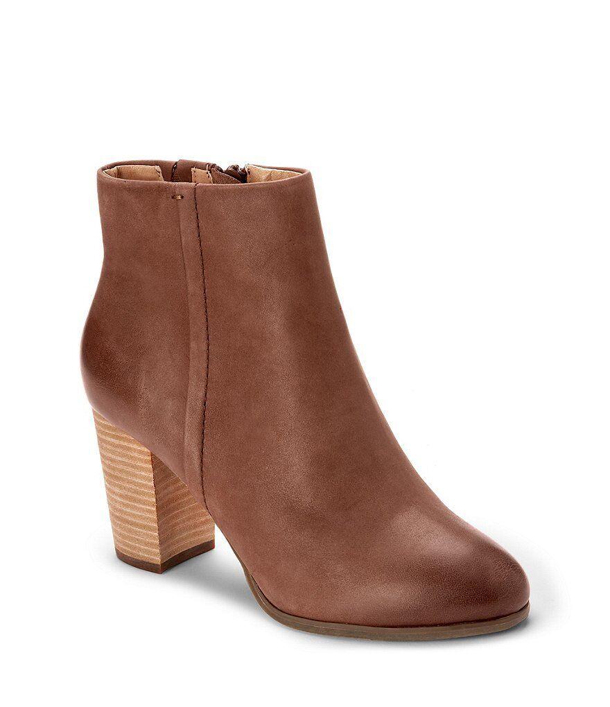 Vionic Women's Perk Kennedy Leather Ankle Booties Dark Dark Dark Brown 862bf4
