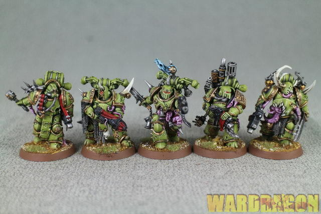 25mm Warhammer 40K WDS painted Death Guard Plague Marines  s72  moda classica