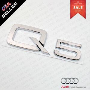 Audi Q5 8R Rear Boot Trunk Label Badge Decal Emblem 8R08537412ZZ NEW GENUINE