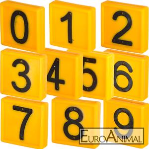 je 1Stück 0-9 Nummernblock / Nummer / Nummern / Zahlen zu Hals-Markierungsband