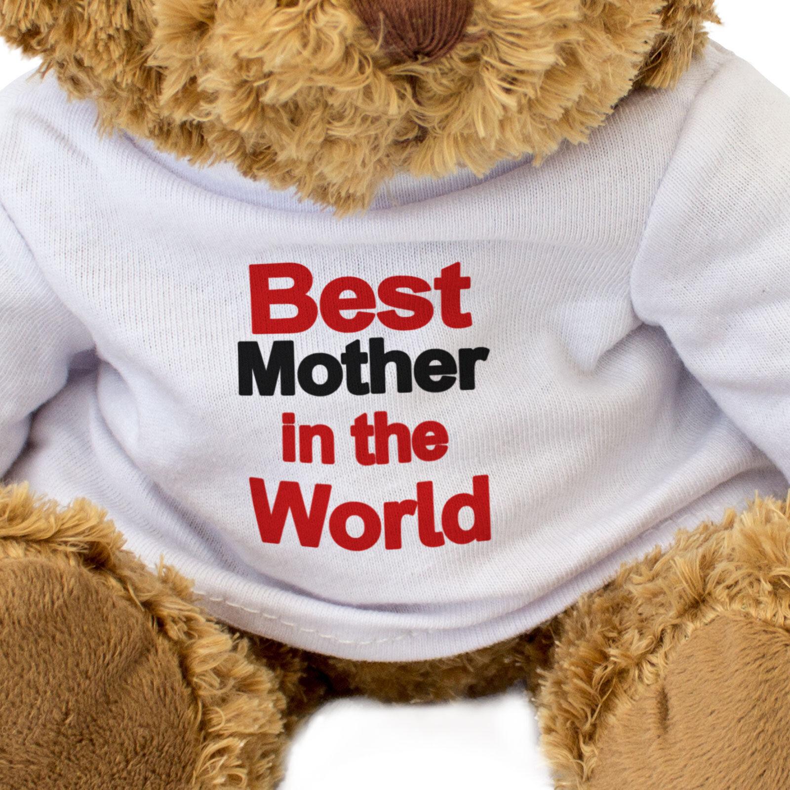 Nuevo - Mejor Madre en el Mundo Mundo Mundo - Oso de Peluche - Lindo - Regalo Presente 227fb9