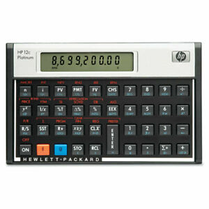 Hewlett-Packard-HP12C-Financial-Calculator-with-Case-Guide-On-Back-12C