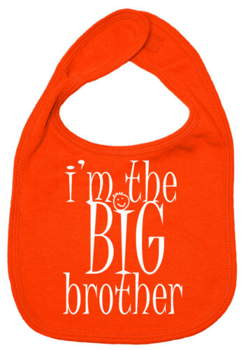 "Brother Baby Bib /""I/'m the Big Brother/"" Funny Cute Gift"