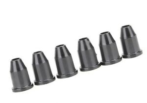 NEW-6-FERRULES-black-metal-1-4-034-pour-guitare-TELECASTER