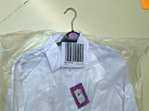 John Lewis Girls White School fitted cotton Blouse Size 14