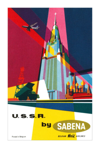 SABENA .. FLY TO USSR... Vintage Advertising/Travel Poster A1A2A3A4Sizes