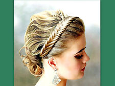 fishtail herringbone hair braided headband custom braid plait wedding hairpiece