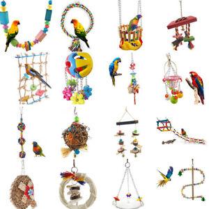100% top quality professional sale newest collection Détails sur Cn _ Perroquet Balance Jouet Oiseau Cage Lit Corde Cage Jouets  Perruche