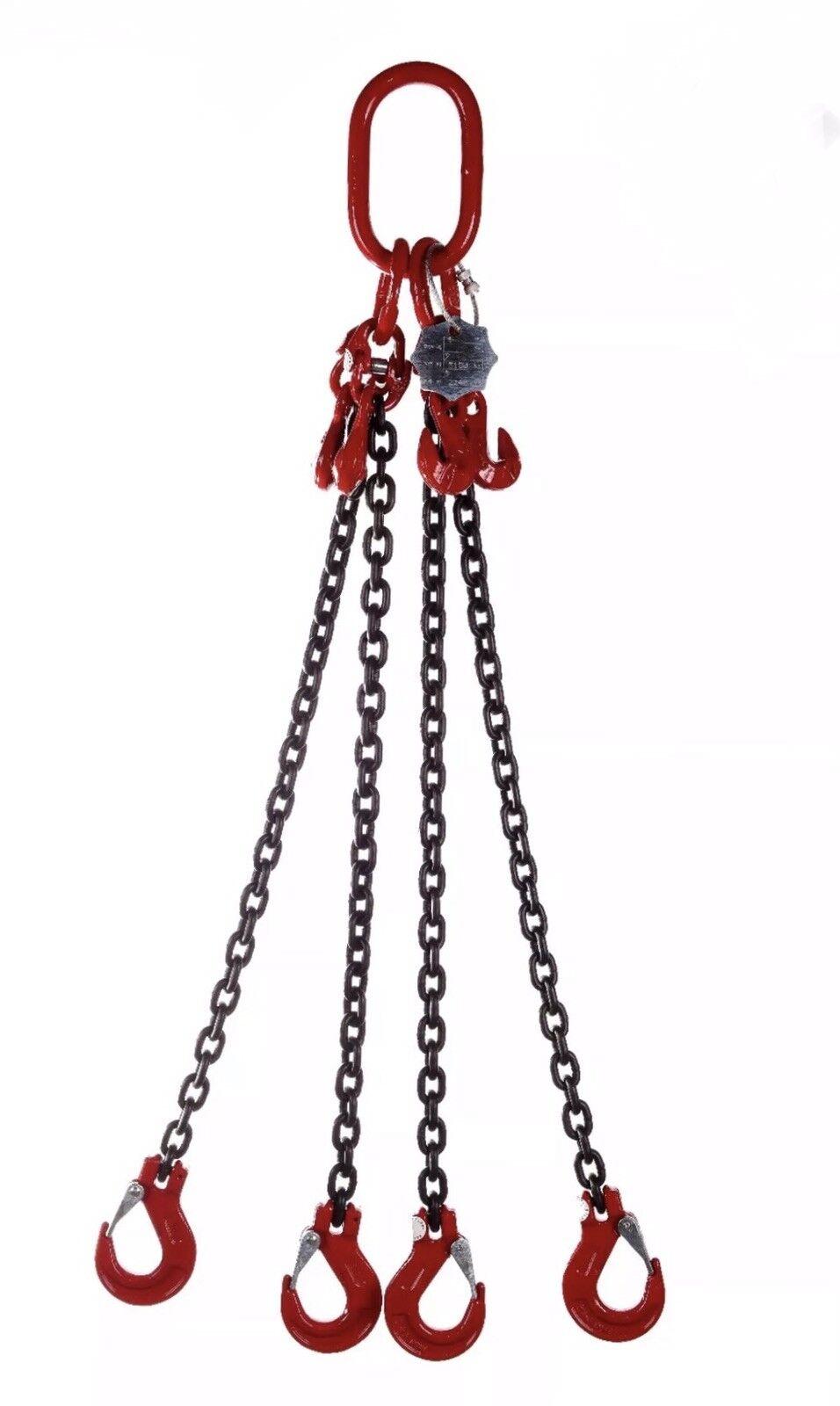 1 1 1 Mètres x 4 Jambe 13 mm de Levage Chaîne Sling 11.2 T avec shortners pour EN818-4 975fcb