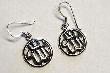 Ohrringe ALLAH Schriftzeichen Symbol ECHT 925 Silber ISLAM Moslem Religion SS265