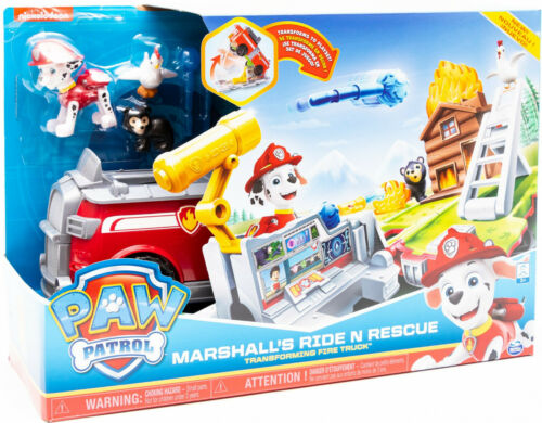 Spin Master Paw Patrol deuxième Marshall/'s Ride N Rescue Transforming Fire