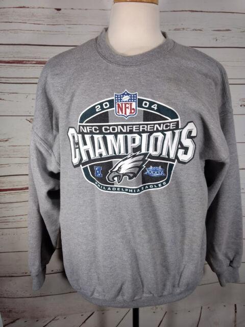 Philadelphia Eagles Gray Sweatshirt NFL Mens Size XXL Crewneck 2004  Conference 93eed49f1