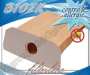 B107K 8 sacchetti filtro carta x Bosch Serie HS//BHS 22 BHS 2232