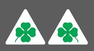2-Adesivi-Stickers-ALFA-ROMEO-Quadrifoglio-Verde-LOGO-11-cm-ds-sx