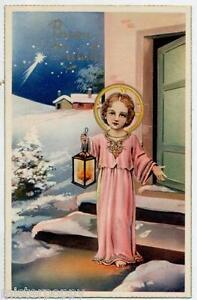 Gesu-Bambino-con-Lanterna-Natale-Jesus-Xmas-PC-Circa-1930