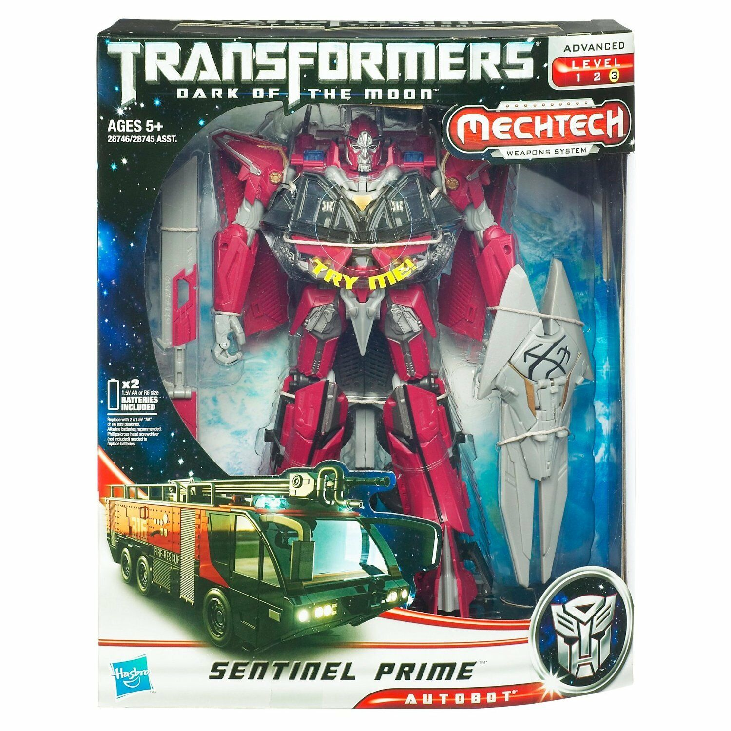 hasbro transformers dark of the moon - leader class: sentinel prime