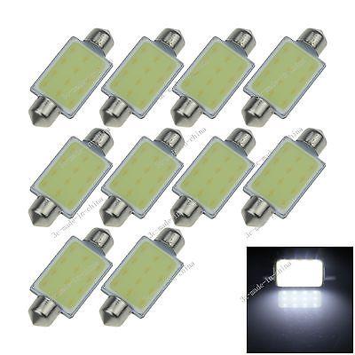 10X White 41MM 1 12 Chips COB Festoon Dome Map LED Light Lamp Roof Bulb I323