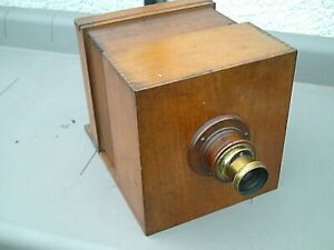 Details About Antique Large Wooden Sliding Box Daguerreotype Camera