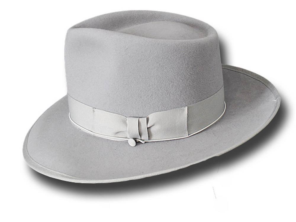 Cappello Cappello Cappello Fedora Johnny Depp Top Quality grau Perla   | Überlegen  c1ff07