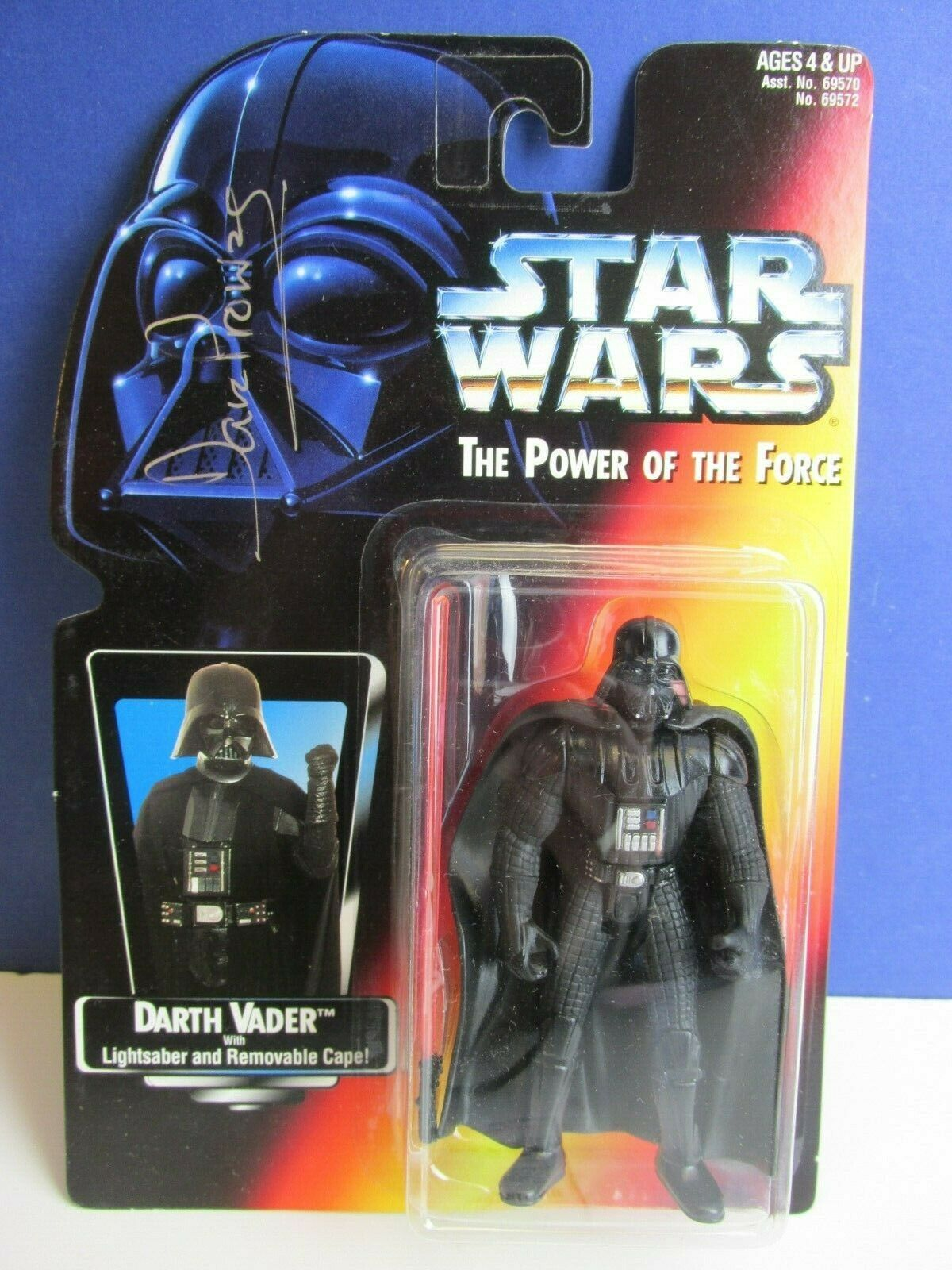 SIGNED BY DAVID PROWSE star wars DARTH VADER ACTION FIGURE POTF2 autograph 30R