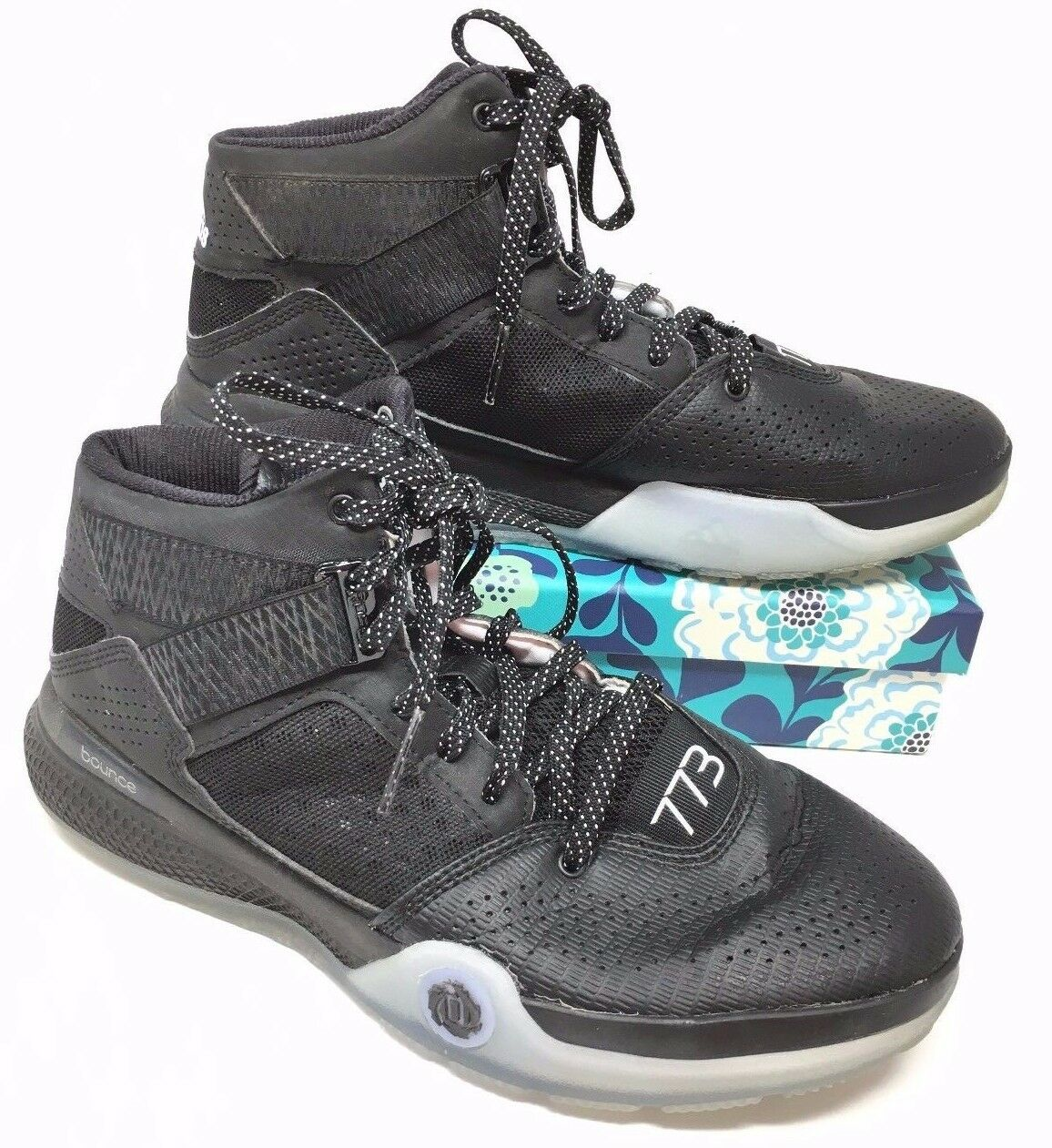 5293a13a84a Men s Adidas Derrick Rose 773 IV IV IV Size 7 Sneakers Shoes Basketball  Black White M8