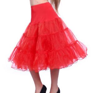 Rot-Petticoat-Tuellrock-Tuetue-Ballettrock-Unterrock-Damenrock-Dirndl-Rock-Party