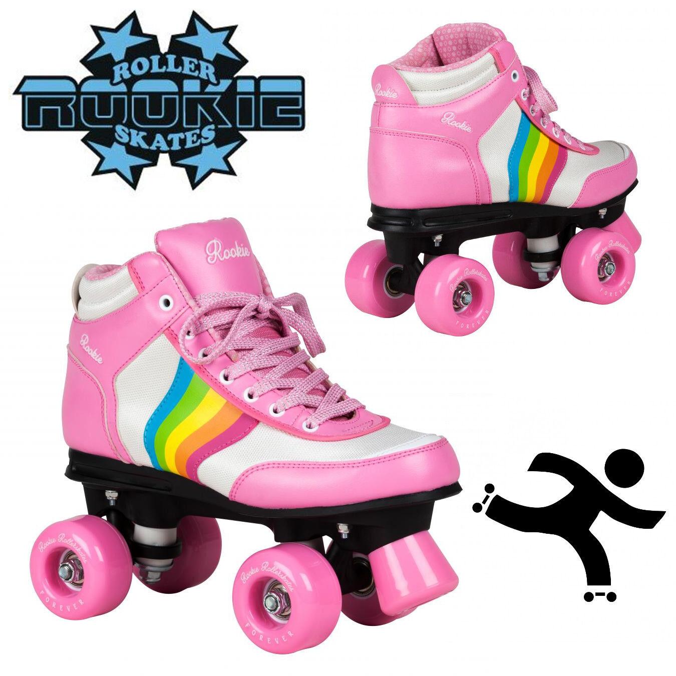 Rookie Girls Forever Rainbow V2 Girls Rookie Damenschuhe Roller Skates Rosa 47b78c
